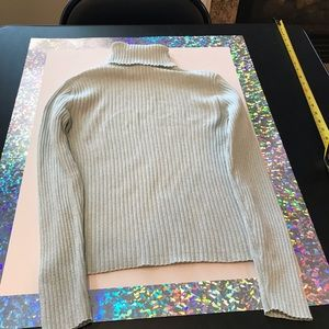 The Limited XS Sparkly, light green Turtleneck Top